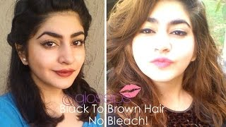 Repeat youtube video Black To Brown Hair - Without Bleaching - How I Did It