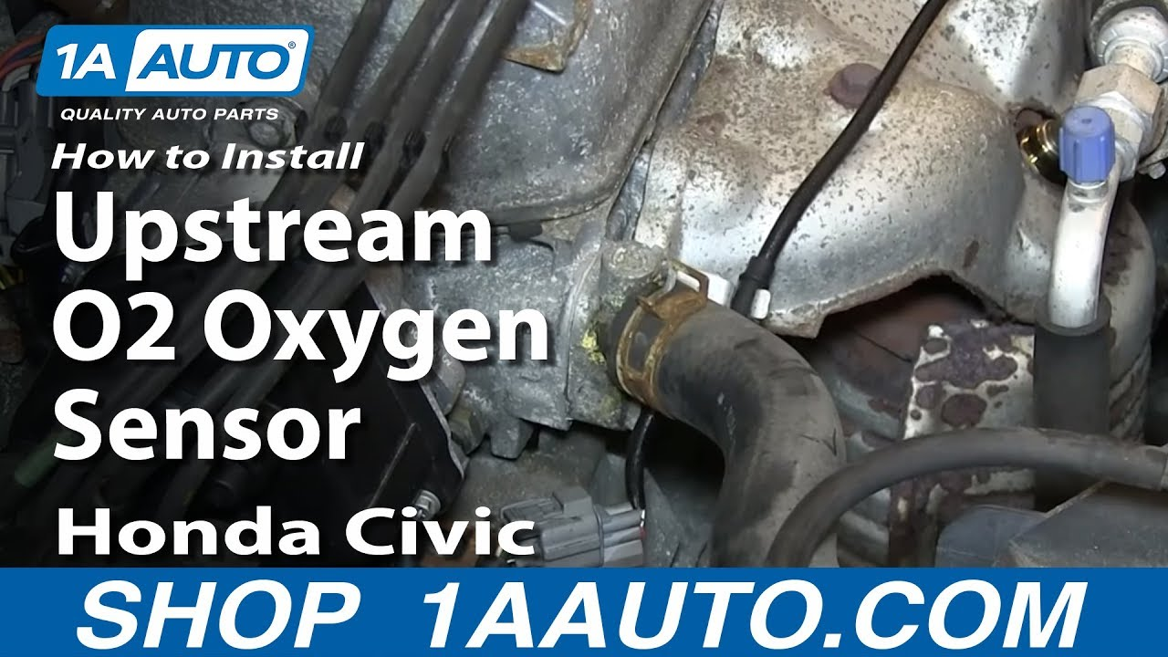 how to replace o2 oxygen sensor 92 00 honda civic [ 1280 x 720 Pixel ]