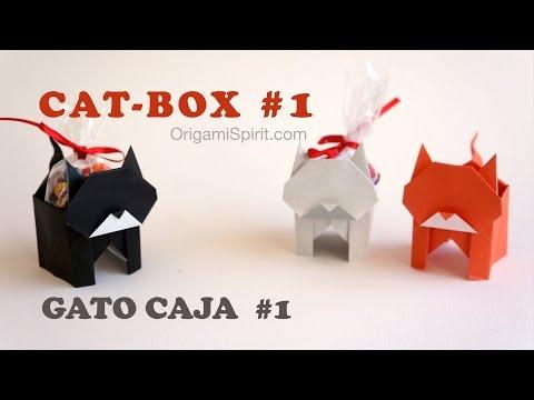 Halloween Cat and Candy Box #1 :: Gato Caja