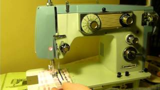 NIFTYTHRIFTYGIRL: VINTAGE DRESSMAKER MODEL SAMB-2 SEWING MACHINE