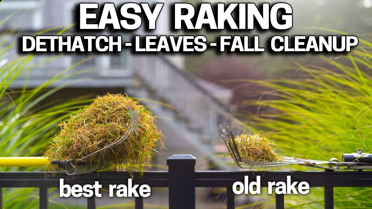 Make RAKING EASIER - Lawn Dethatching / Leaves / Cleanups - BEST RAKE