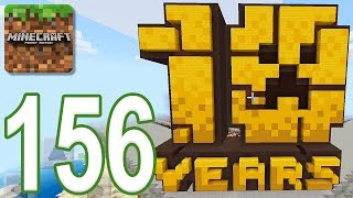 Minecraft: PE - Gameplay Walkthrough Part 156 - 10 Years of Minecraft Map (iOS, Android)