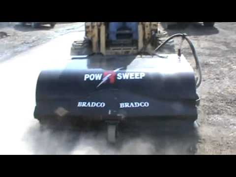 """Bradco 72"""" Sweeper Broom Skid Steer Loader Attachment For Sale"""