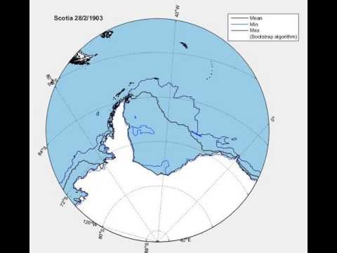 Animation: Scotia Antarctica expedition in 1903 finds sea ice edge much further north