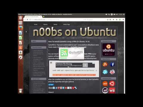 How To Install QuiteRSS Using A PPA On Ubuntu 14.10