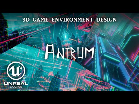 """""""ANTRUM"""" CGI Animated Music glitchy 3D viualization showing underground cyber-megacity"""