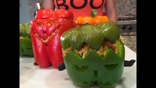 Stuffed Pepper Recipe For Halloween Dinner Party Ideas Thumbnail