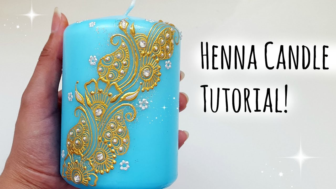 Henna Candle Tutorial Henna Art By Aroosa Youtube