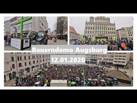 Bauerndemo / Kundgebung – In Augsburg 12.01.2020 - 2000 Traktoren