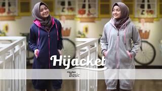 HIJACKET ORIGINAL BASIC Jaket Hijab Sweater Hoodie Wanita Hijaber Muslimah Cewek Polos Zipper Terlaris Terbaru