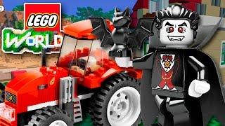 ТРАКТОР ГРАФА ДРАКУЛЫ | [Lego Worlds #4]