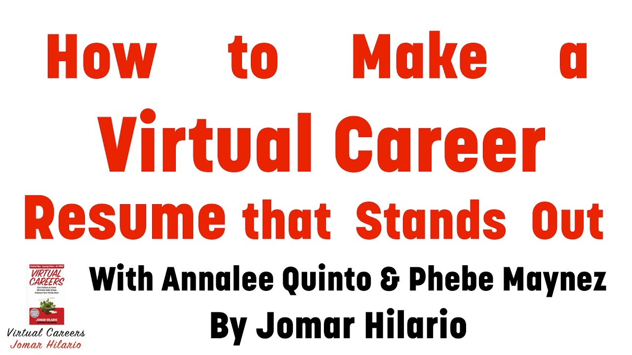 Virtual Assistant Resume: Get Tips In Making Your Virtual Career Resume  Virtual Assistant Resume