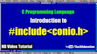 """What is """"#include conio.h"""" in C Programming Language 