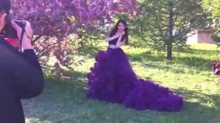 Фотосессия в легендарном фиолетовом платье  Облако