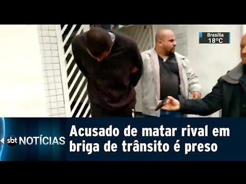 Suspeito de matar homem durante briga de trânsito é preso | SBT Notícias (03/08/18)