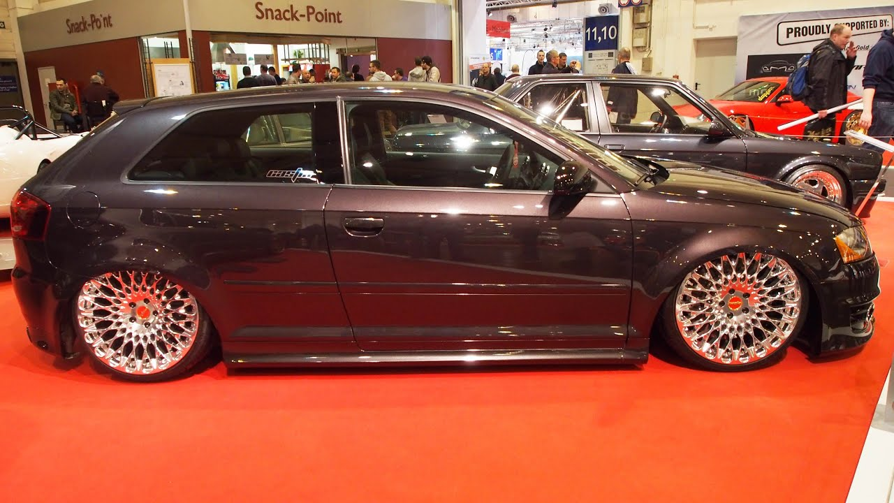 audi a3 8p tuning at essen motorshow exterior walkaround youtube. Black Bedroom Furniture Sets. Home Design Ideas