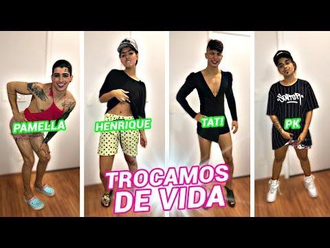 TROCAMOS DE VIDA POR UM DIA!! ft. Henrique Lima, Tati Nunes e Pk thumbnail