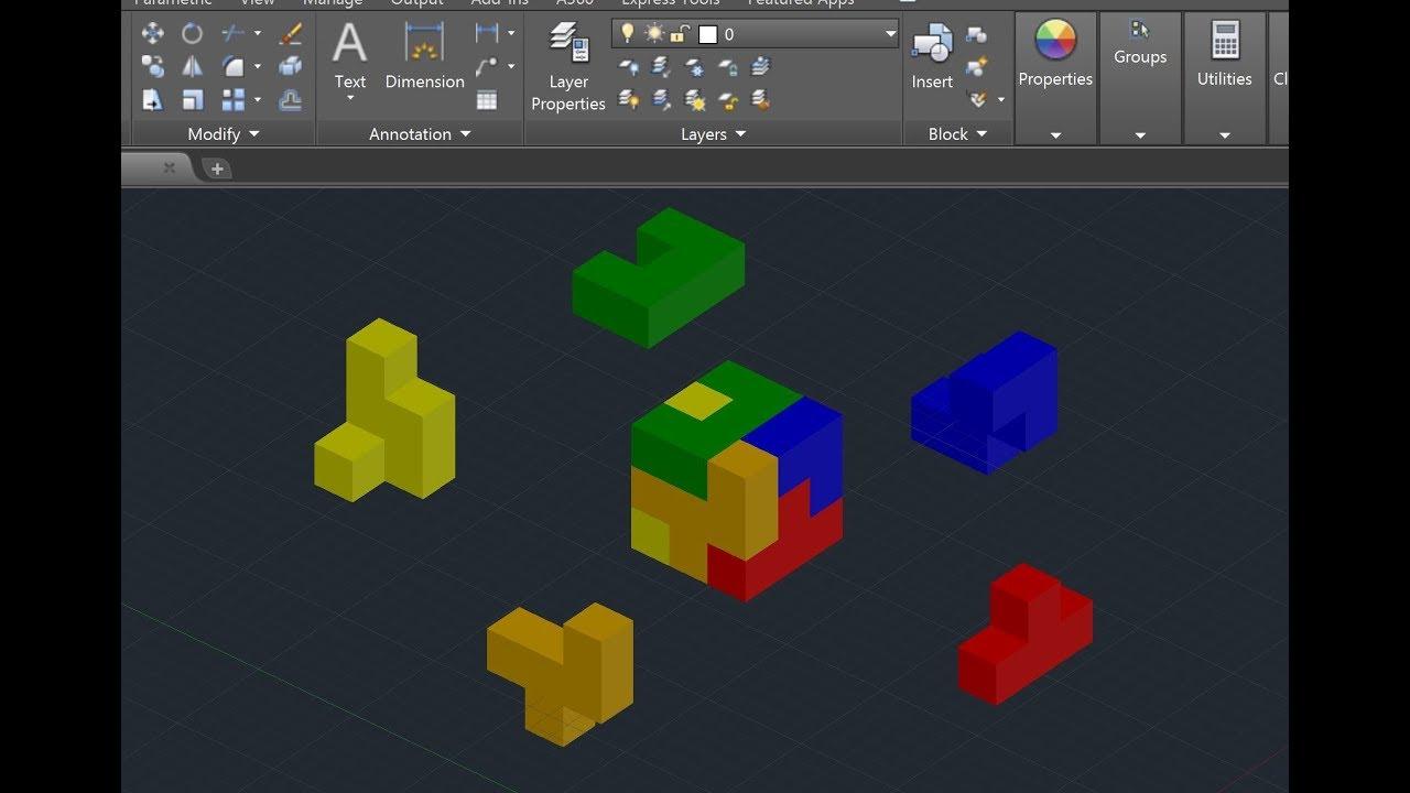 AutoCAD 2018 Tutorial - The Puzzle Cube Project - Part 1