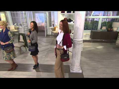 Dooney Bourke Verona Leather Cristina Crossbody Bag With Jayne Brown