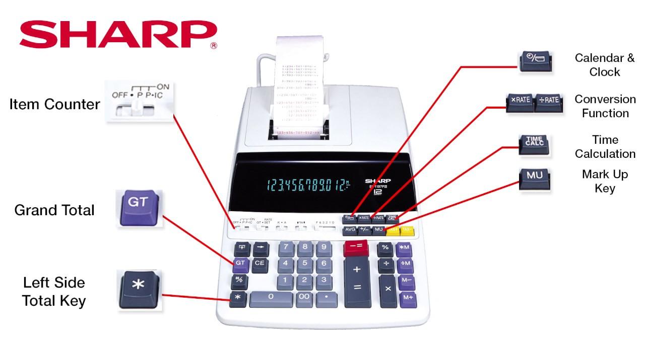 6 Calculator Ribbon For Sharp EL-2630//EL2630//EL-2630P//EL2630P