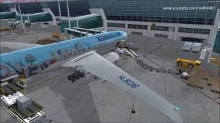 P3D v3.2 PMDG 777-300ER RKSI-RKPC-RKPK on vatsim with S.h Kim and KAL1012