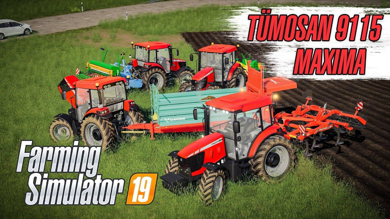 TÜMOSAN MAXİMA 9115 | MOD TANITITMI | Farming Simulator 19 @Semih Cengi
