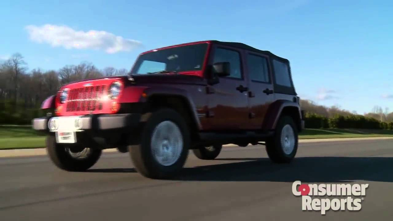 Consumer Reports Review Of The 2012 Jeep Wrangler
