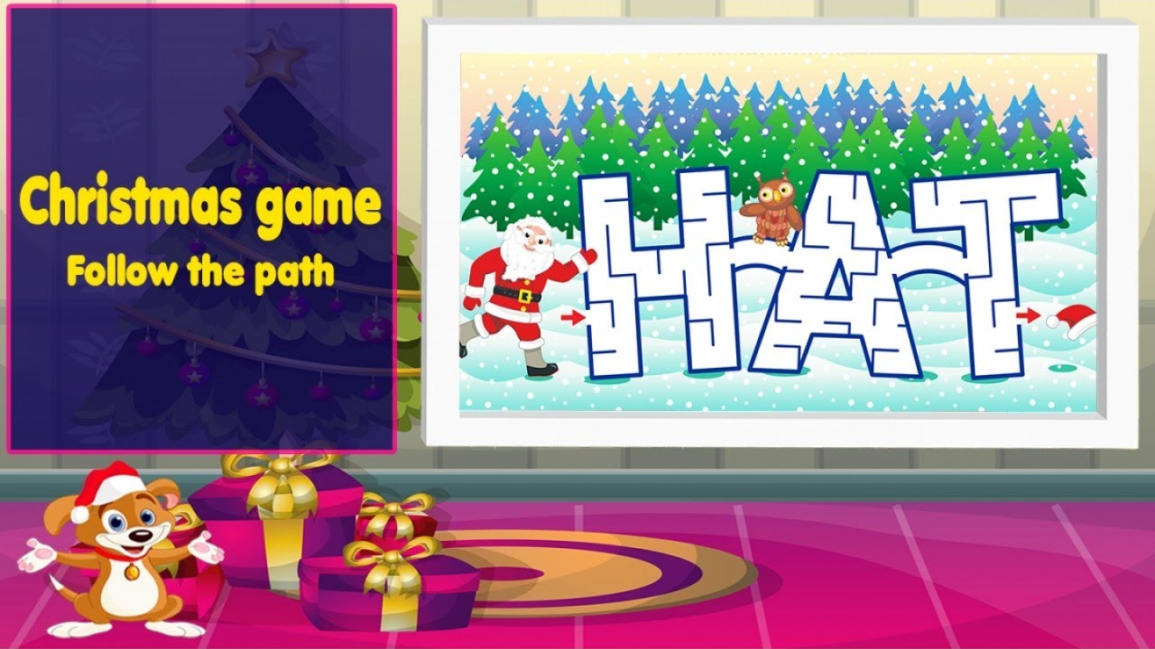 educational christmas game for preschool baby toddlerssanta claus labyrinth christmas songs - Christmas Games For Toddlers