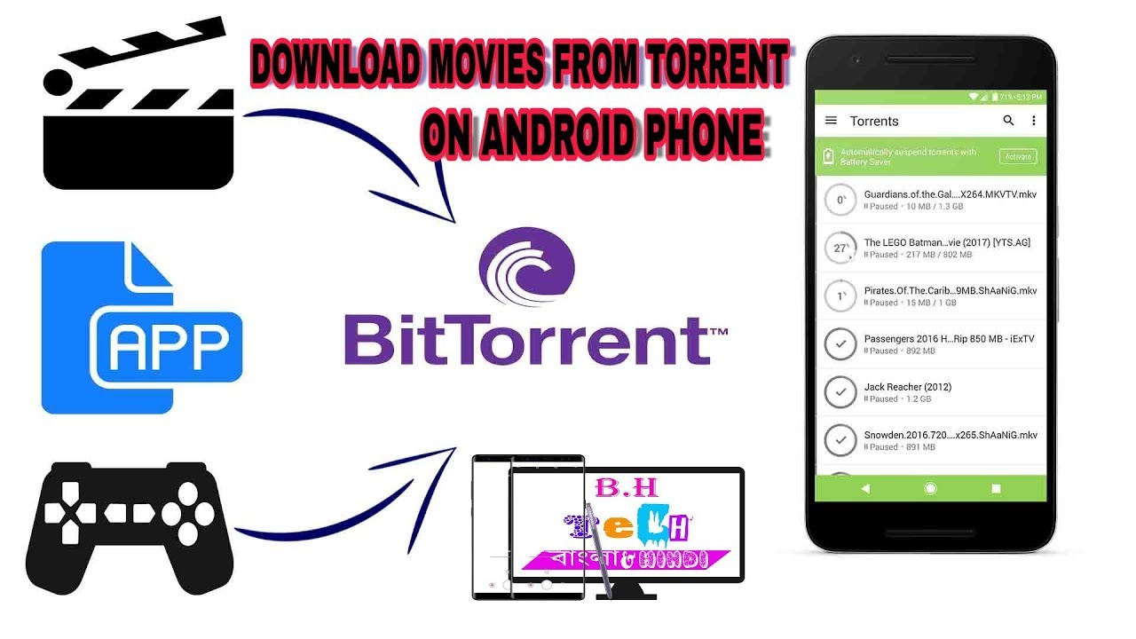 how to download movies from bittorrent in android mobile