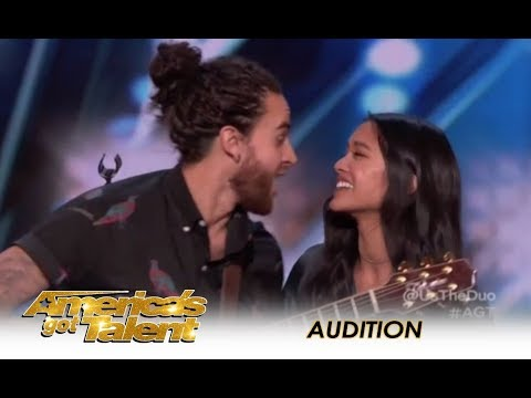 Us The Duo: Couple Music Band Sing Their MARRIAGE Song!  | America's Got Talent 2018