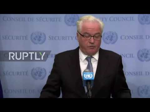 UN: Russia's Churkin hits out at US-led airstrikes on Syrian Army soldiers
