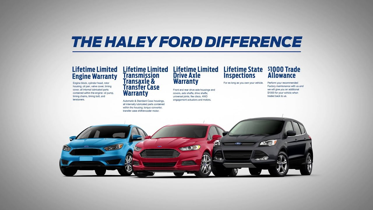 Haley Ford fers Lifetime Powertrain Warranty Richmond VA