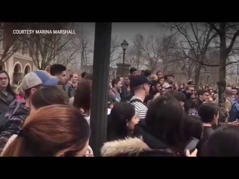 TCNJ students protest Bible Believers on campus