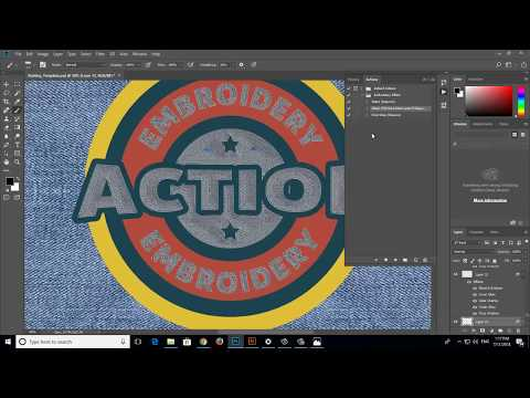 Embroidery Photoshop Action Tutorial