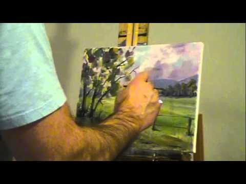 Oil painting demonstration – Green Meadow