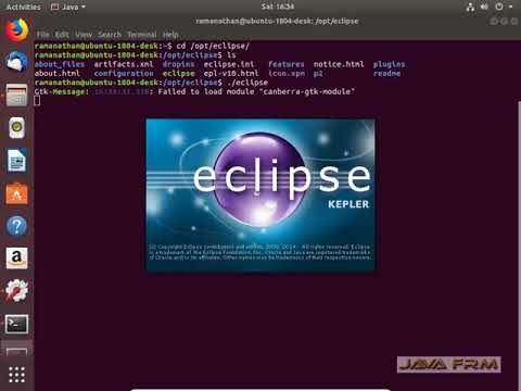 Eclipse Kepler Installation in Ubuntu 18 04 LTS | Eclipse in Ubuntu