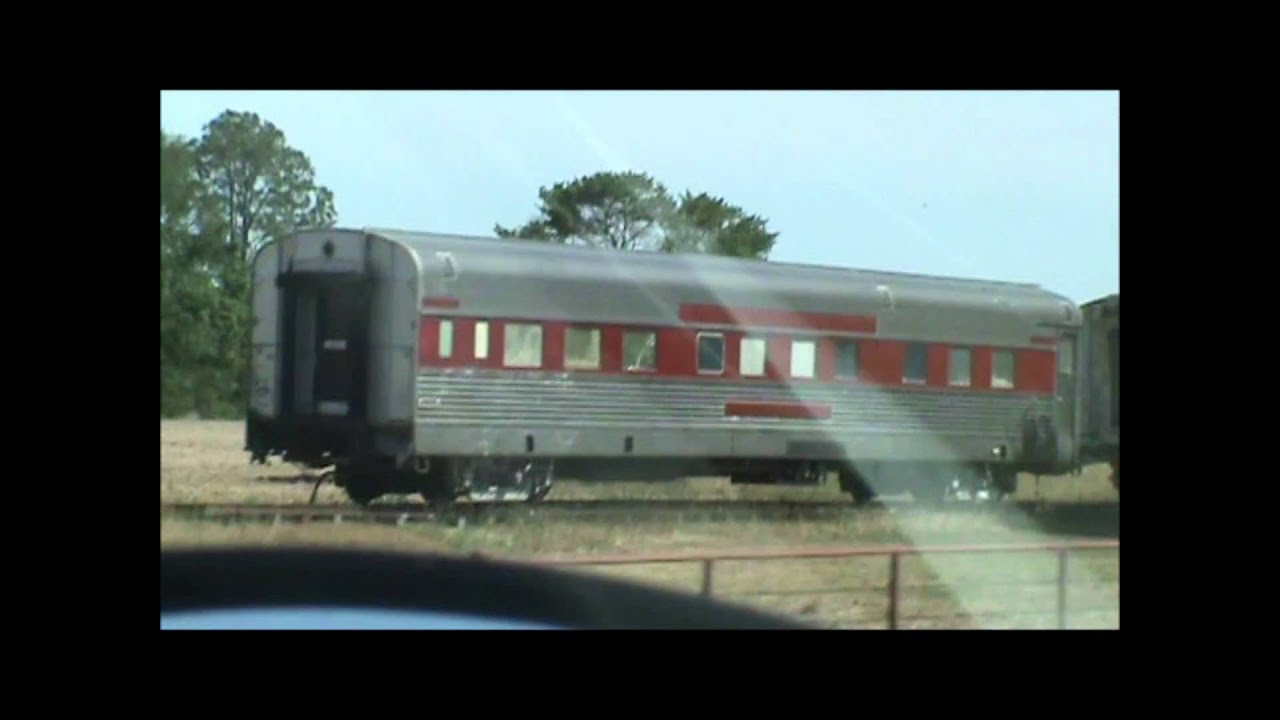 Old Train Passenger Cars Coach And Dinning Car Built By