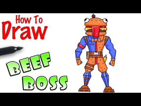 How to Draw the Beef Boss | Fortnite