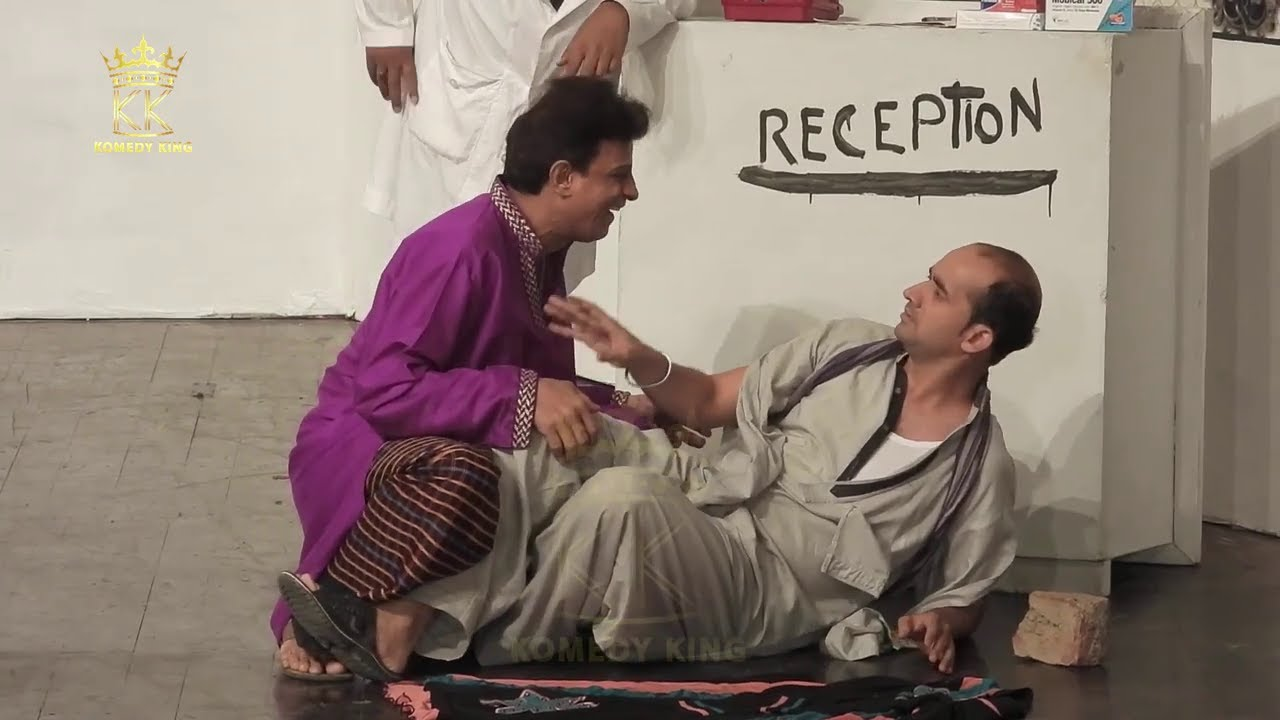 Heer & Reshma Funny Clip | Sarfraz Vicky & Waseem Punnu - Chal Jhoti Stage Drama - KOMEDY KING