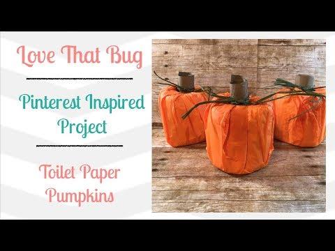 Sunday Series | October | Toilet Paper Pumpkins