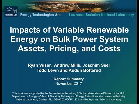 Webinar Impacts of VRE on Bulk Power System