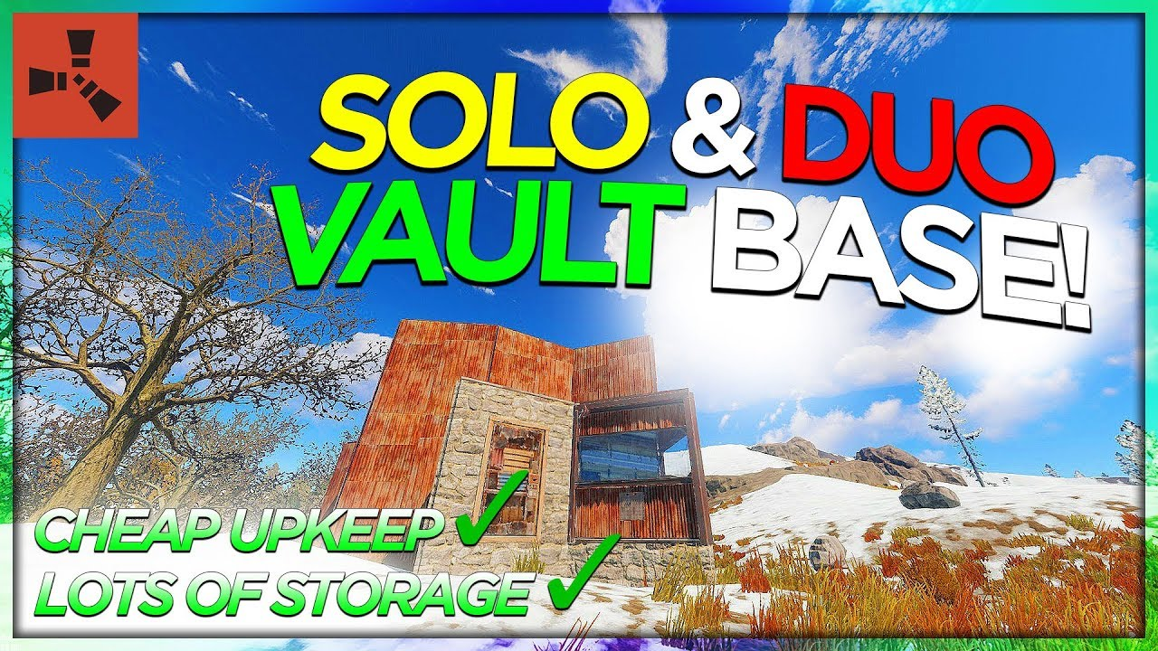 Watch SOLO & DUO 2019 VAULT BASE! (RUST BASE TUTORIAL #2
