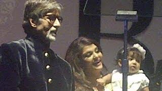 Aaradhya Bachchan at Big B's birthday bash