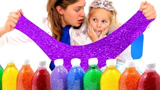 Slime and play! Lily And Daisy Pretend Play Making Princess Slime!