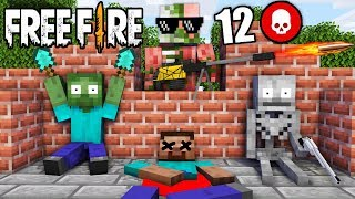 MONSTER SCHOOL : FREE FIRE Challenge - MINECRAFT ANIMATION