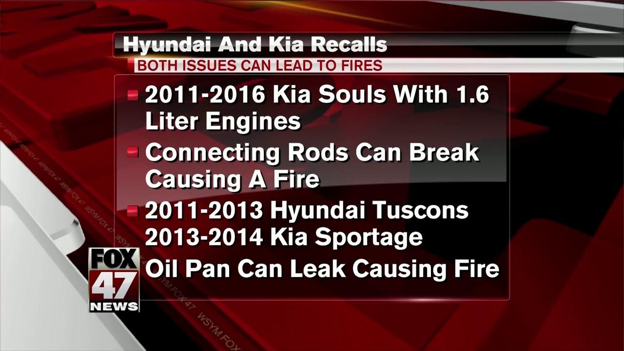 Hyundai, Kia issue recalls after engine fires