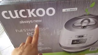 👍BEST RICE COOKER! CUCKOO UNBOXING (10 CUP) - MADE