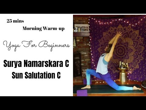sun salutation c  yoga for beginners  young yoga with