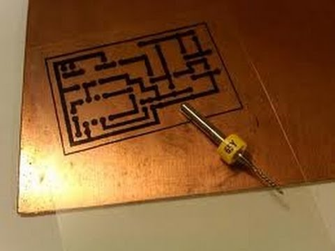 PCB making at home | How to make a single layer PCB (PRINTED ...