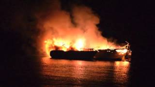 3 Boats On Fire in Cowichan Bay
